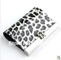 Best Seeling!!genuine leather ladies key wallets leopard print key purse key bag Free Shipping