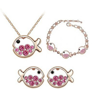 Piece set accessories crystal accessories czech diamond set dollarfish - - b09 princess
