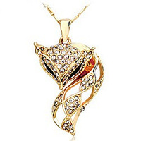 Fashion Women mohini fox pendant crystal necklace mohini b97 Sweets