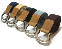 Free Shipping 5 Colors Mens boys Web Belts D-Ring Canvas Belt