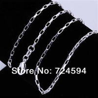 "Free shipping!!!!Hot WholeSale New Fashion 925 Sterling Silver 2MM Gezailian Necklace CN1(16"",18"",20"",22"",24"")"