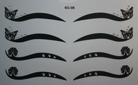 Kc-6 black eyeliner double eyelid eye shadow stickers white