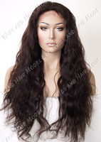 Natural wave 1b# Natural looking lace front wigs Layered 10-22'' synthetic in stock full length lace wig 1 1b 2 4
