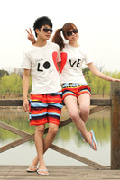 New Fashion Couple swim shorts Lovers Board Shorts Quick-drying Beach Shorts