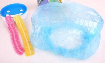 T-0227 disposable shower cap plastic shower cap wigs transparent shower cap dust cap popular 6