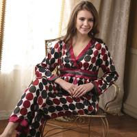 SALE Twinset Pijama Women 2015 Summer Faux Silk Satin Pyjamas Women Polka Dot Pajamas Womens Sleepwear Women's Home Wear
