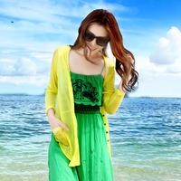 Sun protection clothing transparent sunscreen long-sleeve shirt cardigan female ultra-thin slim all-match air conditioning shirt
