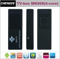 newest MK908 RK3188 Quad Core TV Stick Smart Android TV Box 2GB RAM Built-in Bluetooth IPTV Mini PC ,MINI PC