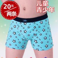 Free shipping Boy child teenage stretch cotton boxer panties 0229 120