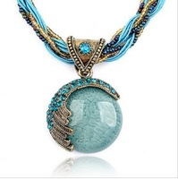Wholesale Bohemia Ethnic Style Retro Short  Necklace Luxury Opal Necklace Fashion Vintage Luxury Female Jewelry Free Shipping