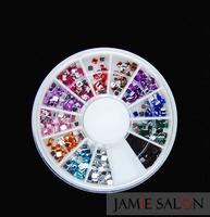 New 500pcs Mix Color Flat Back Square Rhinestones Acrylic Gem Craft Nail Art 20 Sets/lot Free Shipping