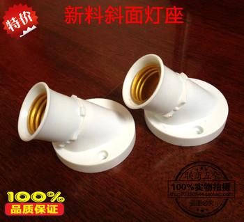 Lamp holder screw cap biseautes lamp base e27 lamp base ming mounted ceiling light circle lamp base