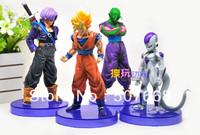1set Dragon ball z  (4pcs/set) figures 3th Goku figure chidren toy Christmas gift