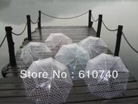 Wholesale - 6 Color New Women men's fashion round dot transparent umbrella/parasol umbrella