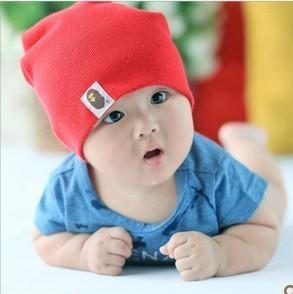 Free Shipping 5pcs/lot Multicolor Children Hats Cotton Beanie Infant Hat Skull cap boys &girls