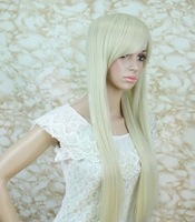 Wig wholesale cartoon show COS wig with long straight hair girls beige masquerade