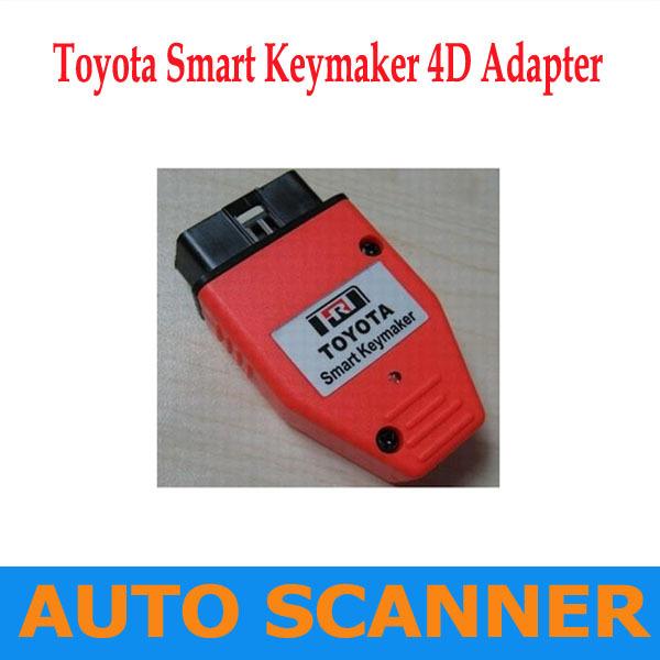 2013 Toyota Smart Key maker 4C 4D chip Toyota Smart Keymaker OBD2 Eobd TRANSPONDER KEY PROGRAMMER Free Fast shipping(China (Mainland))