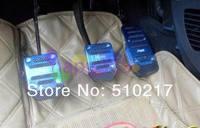 9pcs Universal alloy AT\MT car throttle pedal brake clutch pedal car modification foot brake cover  car Non-slip foot pedals