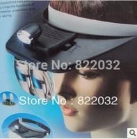 LED Head Light Flashlight Headlamp & Magnifying Glass Magnifier Free Shipping