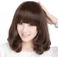 Yiwu wig repair face long hair fluffy female Korean wave head pear head Qi Liu jiafa sets