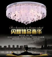 2014 Hot Sale Lustre Chandeliers 2028# Glass Ceiling Lamp: E27&e14 Bulbs And Led Beads, Diameter:450mm, Crystal Light, Light