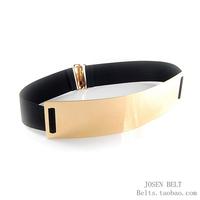 Josen . fashion gold mirror surface metal buckle fashion Women elastic cummerbund belt chromophous 1200
