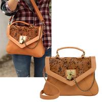 Free shipping! Fashion 2013 topshop horsehair leopard print bags briefcase bag small bag