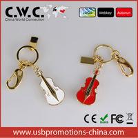 Violin art promotional usb 2GB 4GB 8GB 16GB 32GB 64GB With key chain