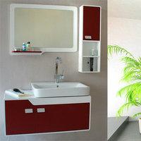 Sanitary ware wash station wash basin oak pvc bathroom cabinet combination toilers cabinet bathroom cabinet 80