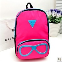 Color block double sided bag student bag 2013 preppy style candy color double-shoulder women's handbag