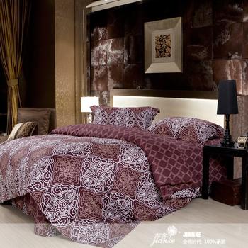 Home textile bed sheets quilt pillow case piece set 100% cotton satin new arrival