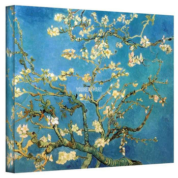 Artists Artwork Van Gogh Reproductions Almond Blossoms Oil Painting On Canvas Wall Art For Sale Home Decoration