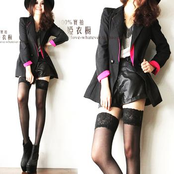 G2 fashion color block unisex mix match medium-long suit