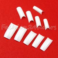 Wholesales 10packs/lot 500pcs White Color French Acrylic False Nail Art Tips Nail Art