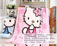 Cartoon coral fleece blanket single child nap blanket air conditioning blanket blanket thin blanket 1.5 m