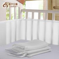 crib bed stretch elastic breathable fence .