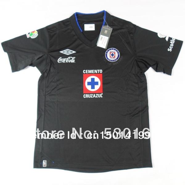 Cruz Azul 2013-2014 away black soccer jersey , best quality football shirts , can print football player name and number(China (Mainland))