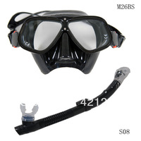 Free 1 PCS/LOT delivery high quality black MASK a breathing tube SETWITH purge valve adult swimming diving