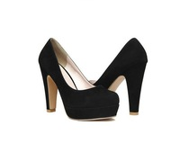 Free Shipping 2013 New women's High-heeled Shoes Thick Heels Black Shoes Korean Nightclub
