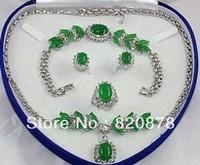 Hot! Fashion beautiful necklace Bracelet Earrings Ring Set #1 +(box) Fashion jewelry