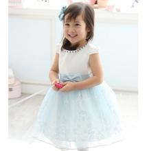 Child dress princess dress costume female child one piece dress puff skirt