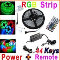 RGB 3528 SMD LED Strip Light + Remote Control 44key + Adapter 12V 2A Free by China Post