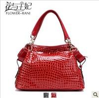 Fashion high quality fashion genuine leather handbag women's spring and summer crocodile pattern cowhide chain shoulder bag