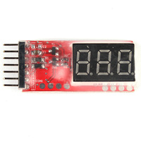 Free shipping 2S-6S Lipo Battery Tester Indicator Voltage Meter Alarm
