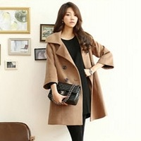 Free shipping  outerwear brief elegant wool coat loose wool cashmere woolen outerwear overcoat