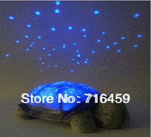 2014 Music play high quality Turtle Star Sky night light projector for Kids toy Sleep Night Light with retail box free shipping(China (Mainland))