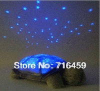 2014 Music play high quality Turtle Star Sky night light projector for Kids toy  Sleep Night Light with retail box free shipping