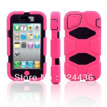 Survivor Cell Phone Case for Iphone 4 4s Silicon Whaterproof Dirtproof  cover skin Free shipping