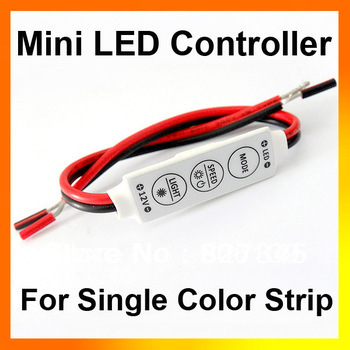 Wholesale 12V 144W Mini Sinlge Color 3528 5050 Strip LED Controller Dimmer