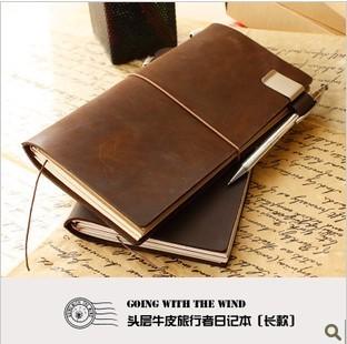 Traveler cowhide ben diary notepad bag